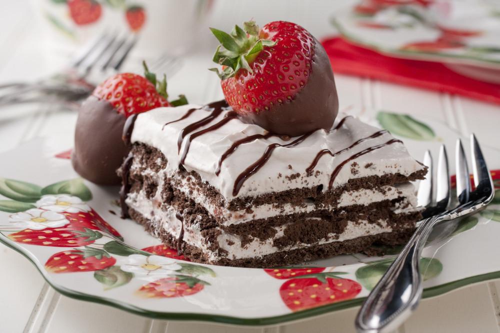 Dessert With Strawberries  Strawberry Icebox Cake