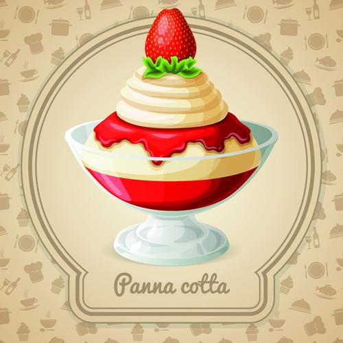 Desserts By Design  Tasty dessert background design vector Free vector in