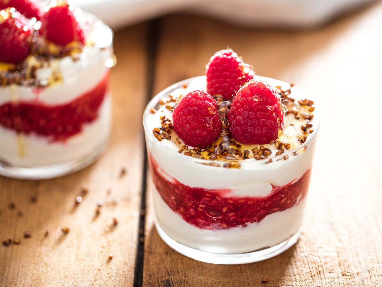 Desserts For One  Cranachan Scottish Whipped Cream With Whisky Raspberries