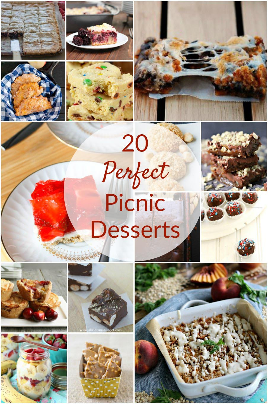 Desserts For Picnic  20 Perfect Picnic Desserts Round Up by The Redhead Baker