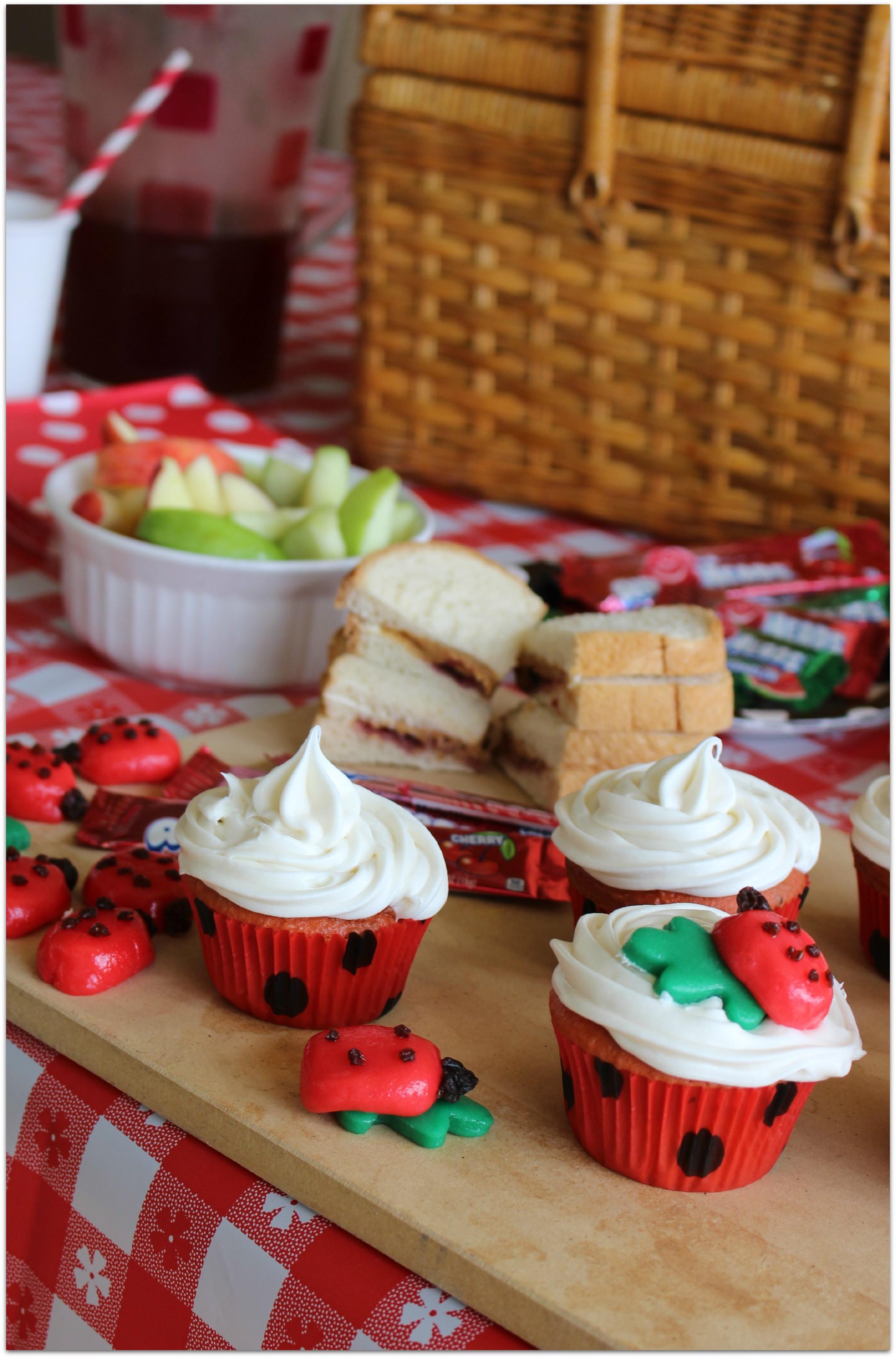 Desserts For Picnic  Ladybug Picnic Cupcakes Food Fun & Faraway Places