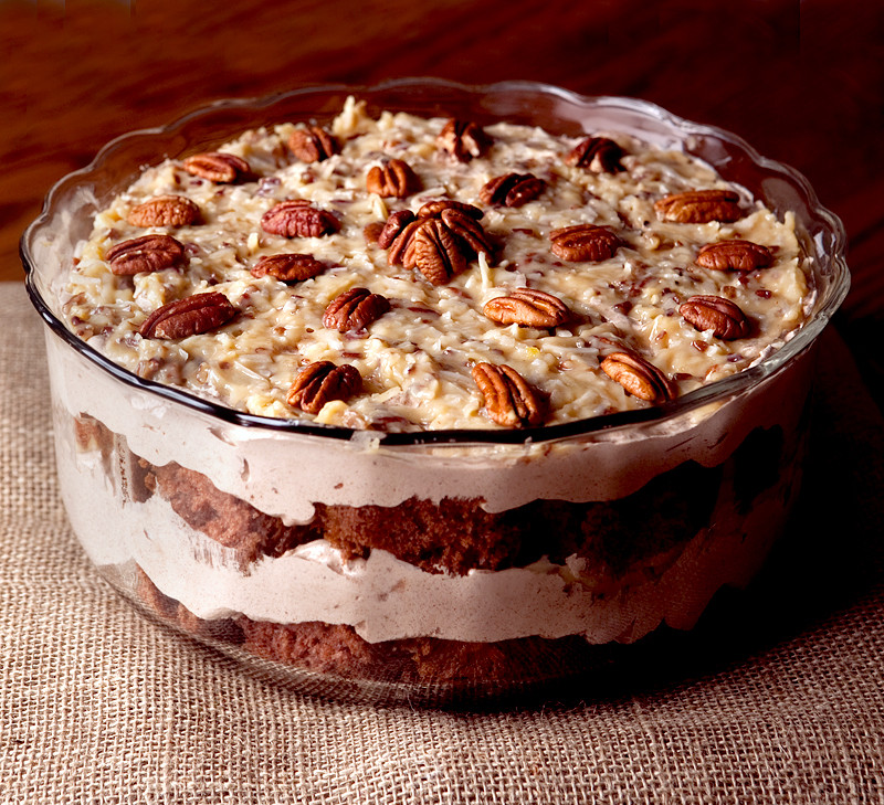 Desserts Using Cake Mix  German Chocolate Cake Trifle