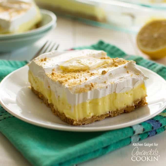 Desserts With Lemon  Lemon Cheesecake Pudding Dessert layered lemon dessert