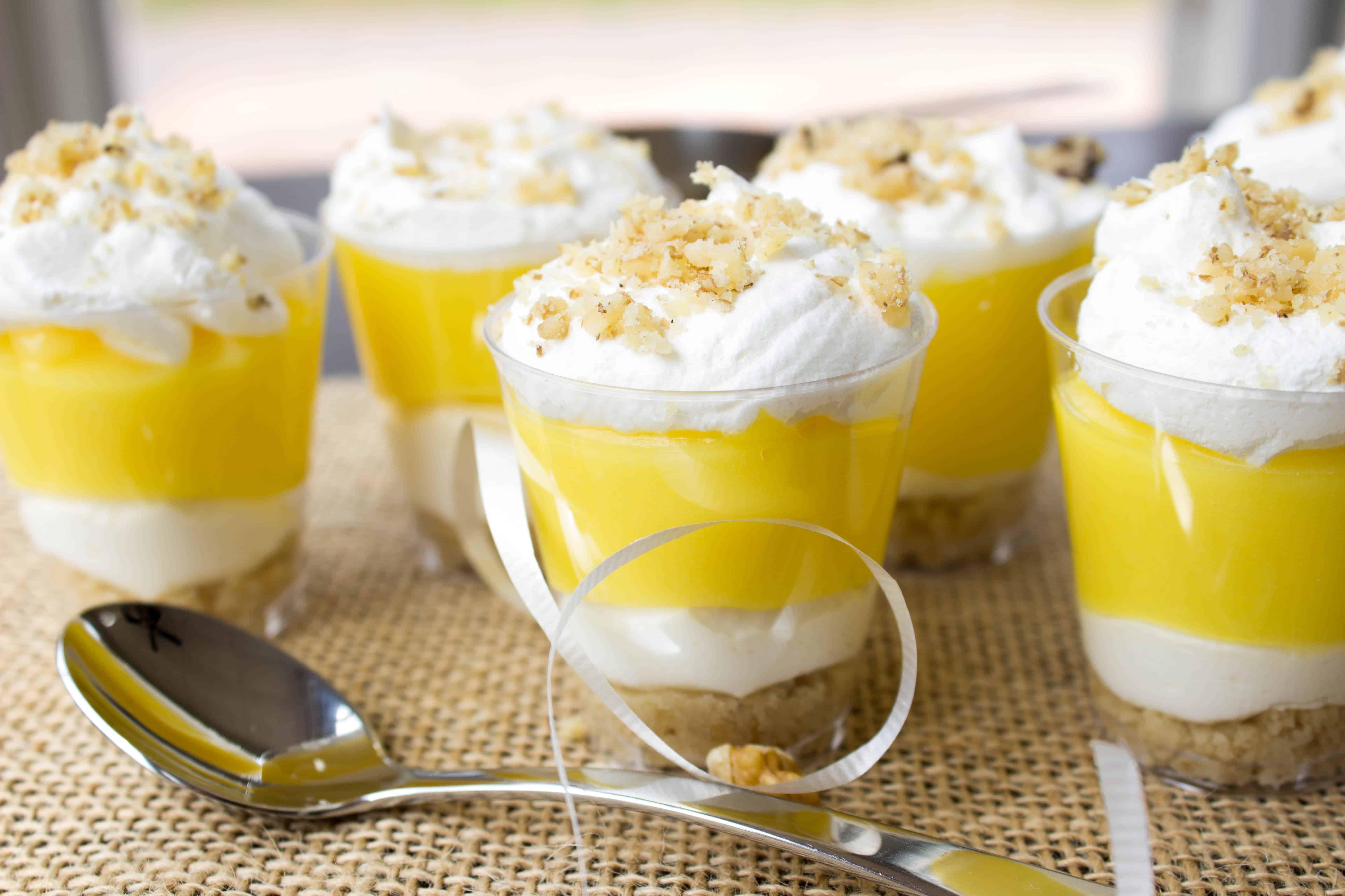 Desserts With Lemon  Lemon Lush Dessert Shooters
