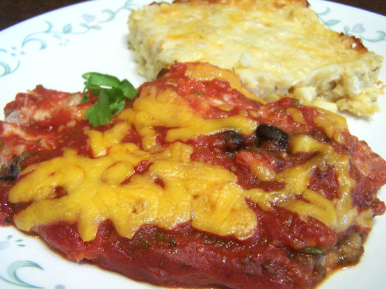 Diabetic Chicken Recipes  Chicken Enchilada Casserole Diabetic Recipe Genius Kitchen