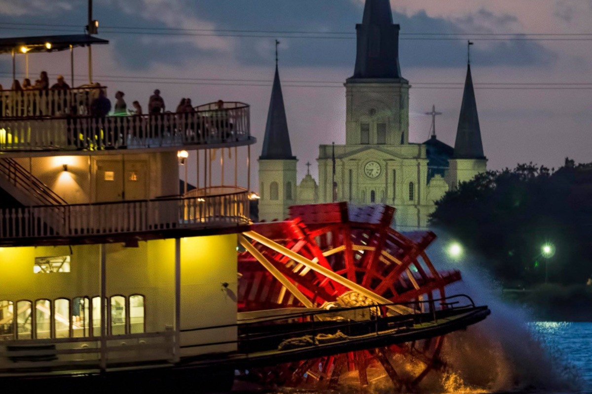 Dinner Cruise New Orleans  Creole Queen Jazz Cruise with Optional Dinner Buffet