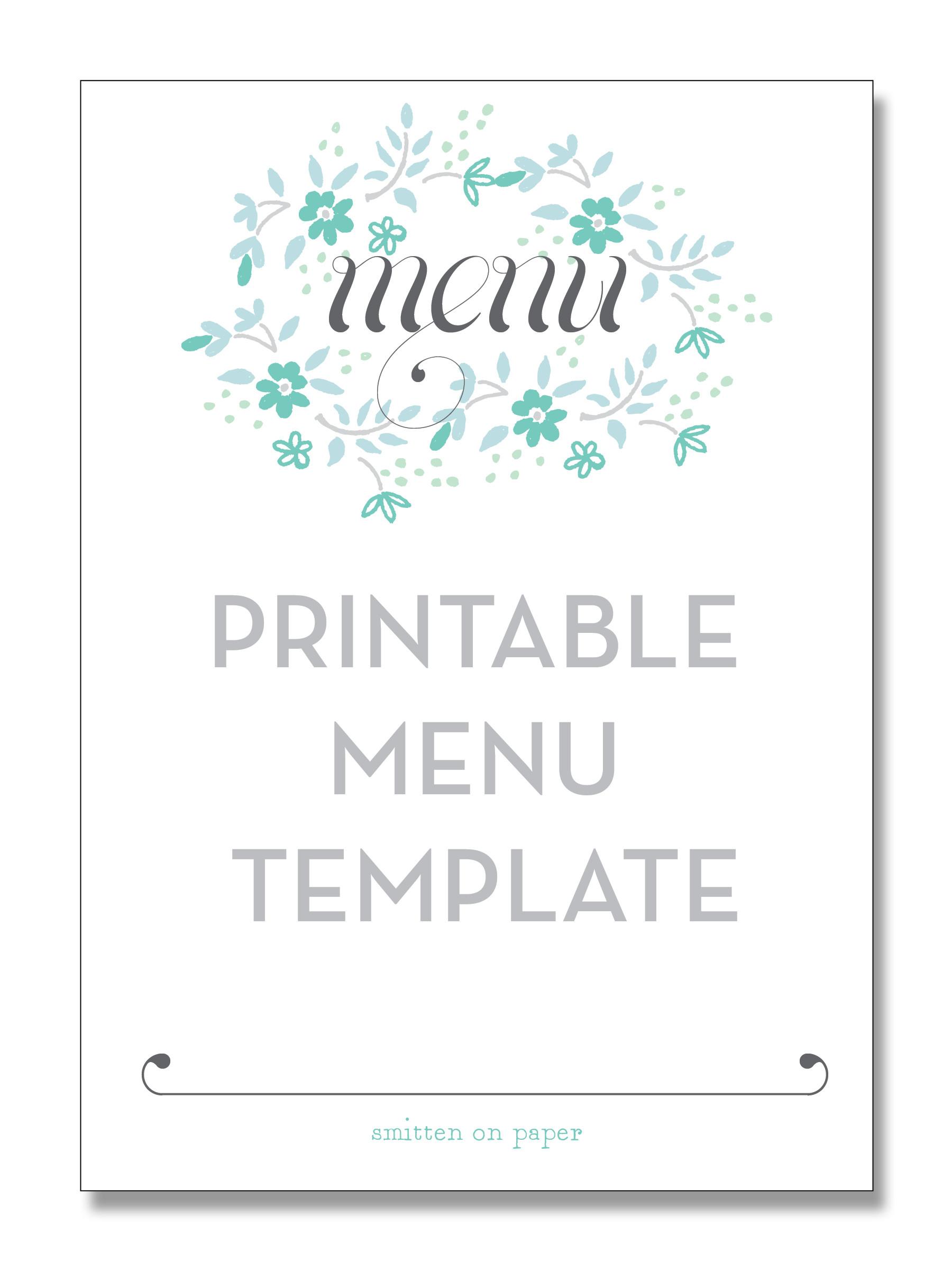 Dinner Menu Template  5 Best of Free Printable Christmas Dinner Menu