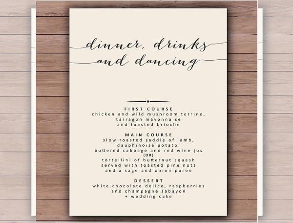 Dinner Menu Template  Dinner Menu Templates – 36 Free Word PDF PSD EPS