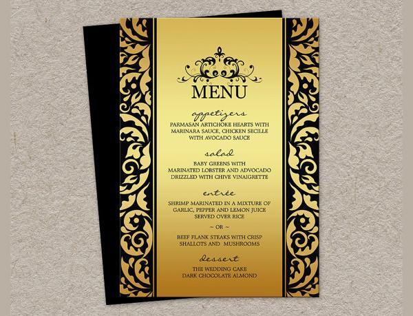 Dinner Menu Template  24 Dinner Party Menus