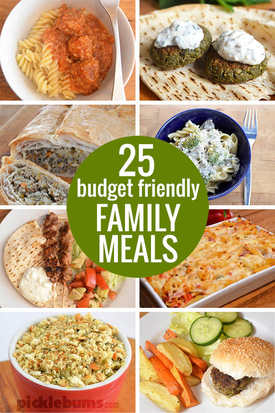 Dinner On A Budget  Bud Friendly Family Dinners Picklebums