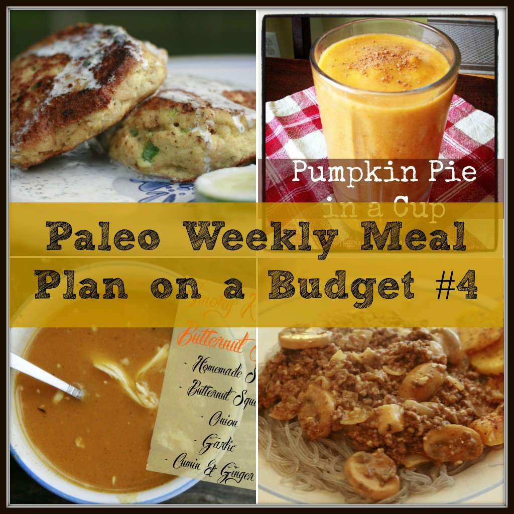 Dinner On A Budget  Paleo Weekly Meal Plan A Bud