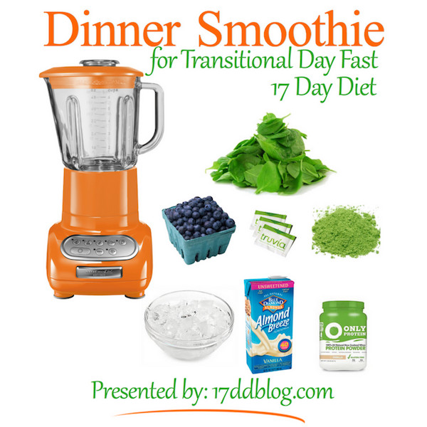 Dinner Smoothies Recipe  Dinner Smoothie Recipe for the 17 Day Diet