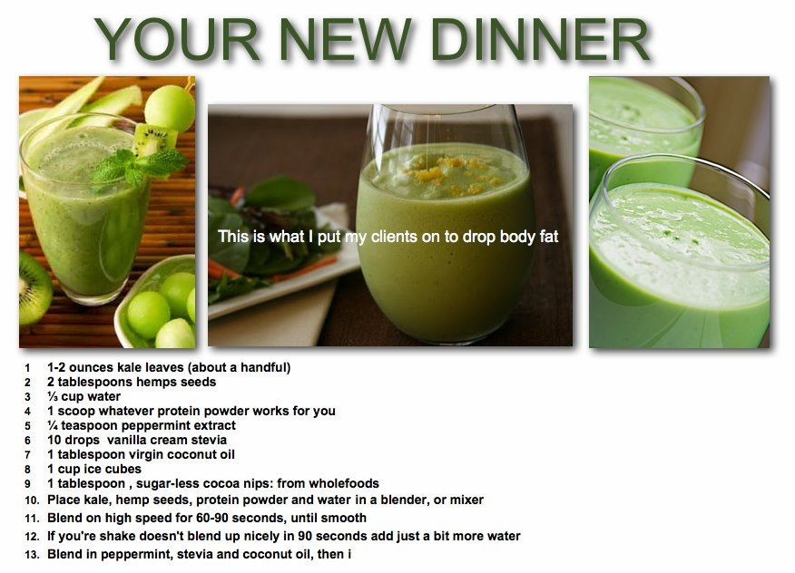 Dinner Smoothies Recipe  Your new dinner smoothie FB Stephanie Person Skater