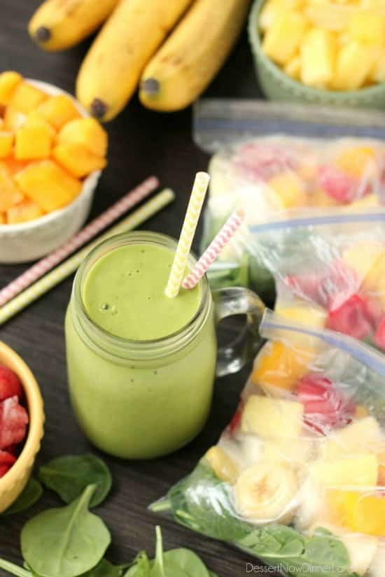 Dinner Smoothies Recipe  Freezer Smoothie Packs Dessert Now Dinner Later