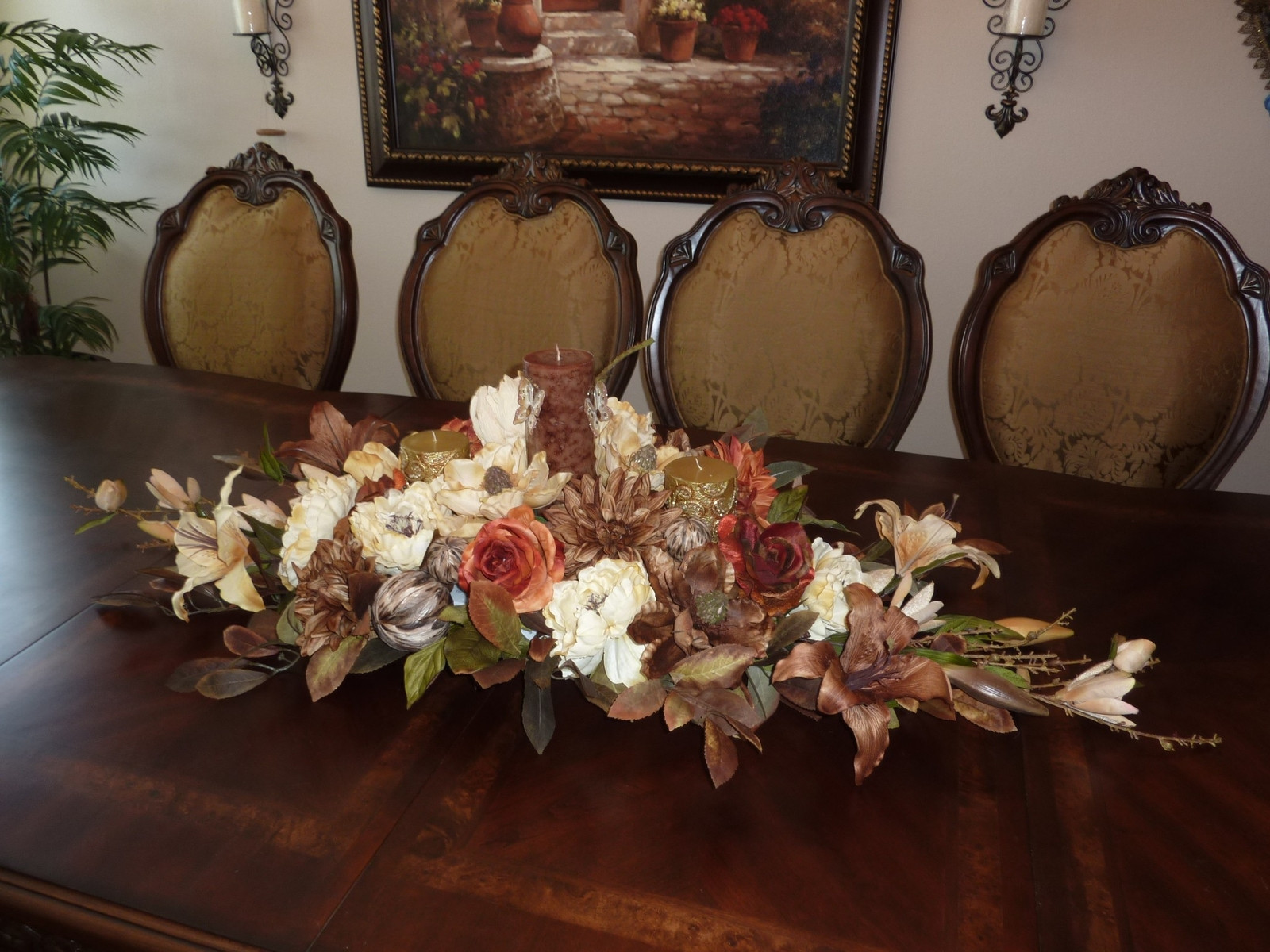 Dinner Table Centerpiece  40 Amazing Fall Centerpieces For Dining Room Table