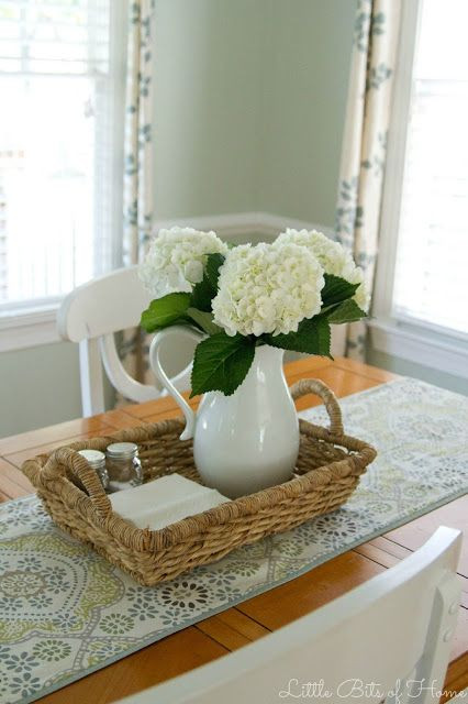 Dinner Table Centerpiece  Little Bits of Home The Clean Table Club …