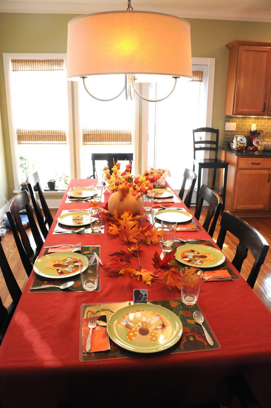 Dinner Table Decorating  Thanksgiving Decor The Polkadot Chair