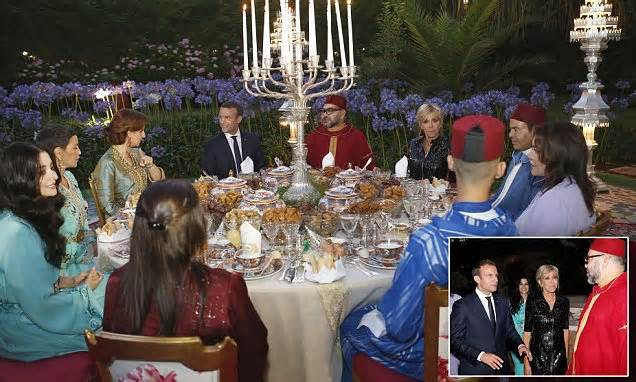 Dinner With The King  Dinner with the King President Macron and wife Brigitte