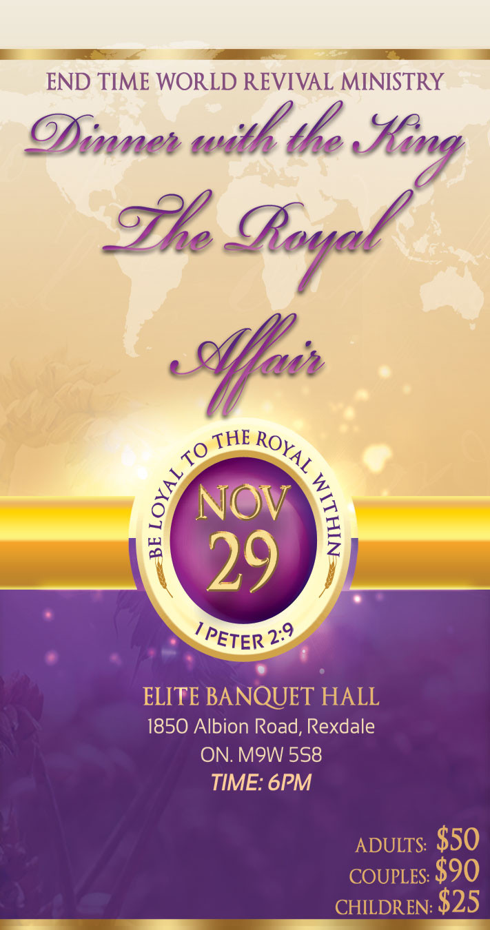 Dinner With The King  DINNER WITH THE KING THE ROYAL AFFAIR