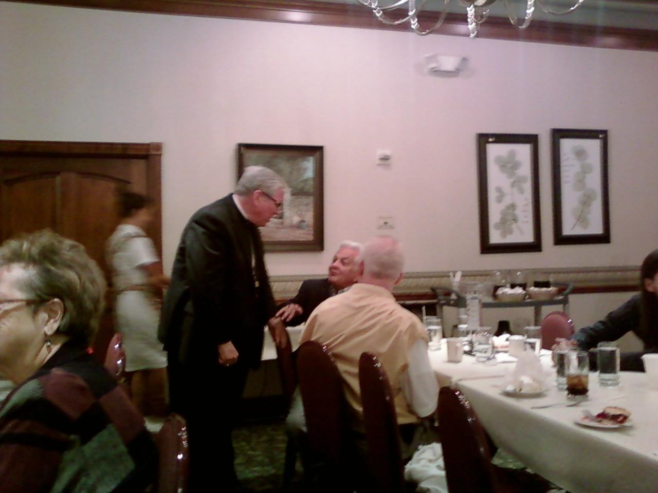 Dinner With The King  Catholic Champion Blog Bishop Frank J Dewane Has Dinner