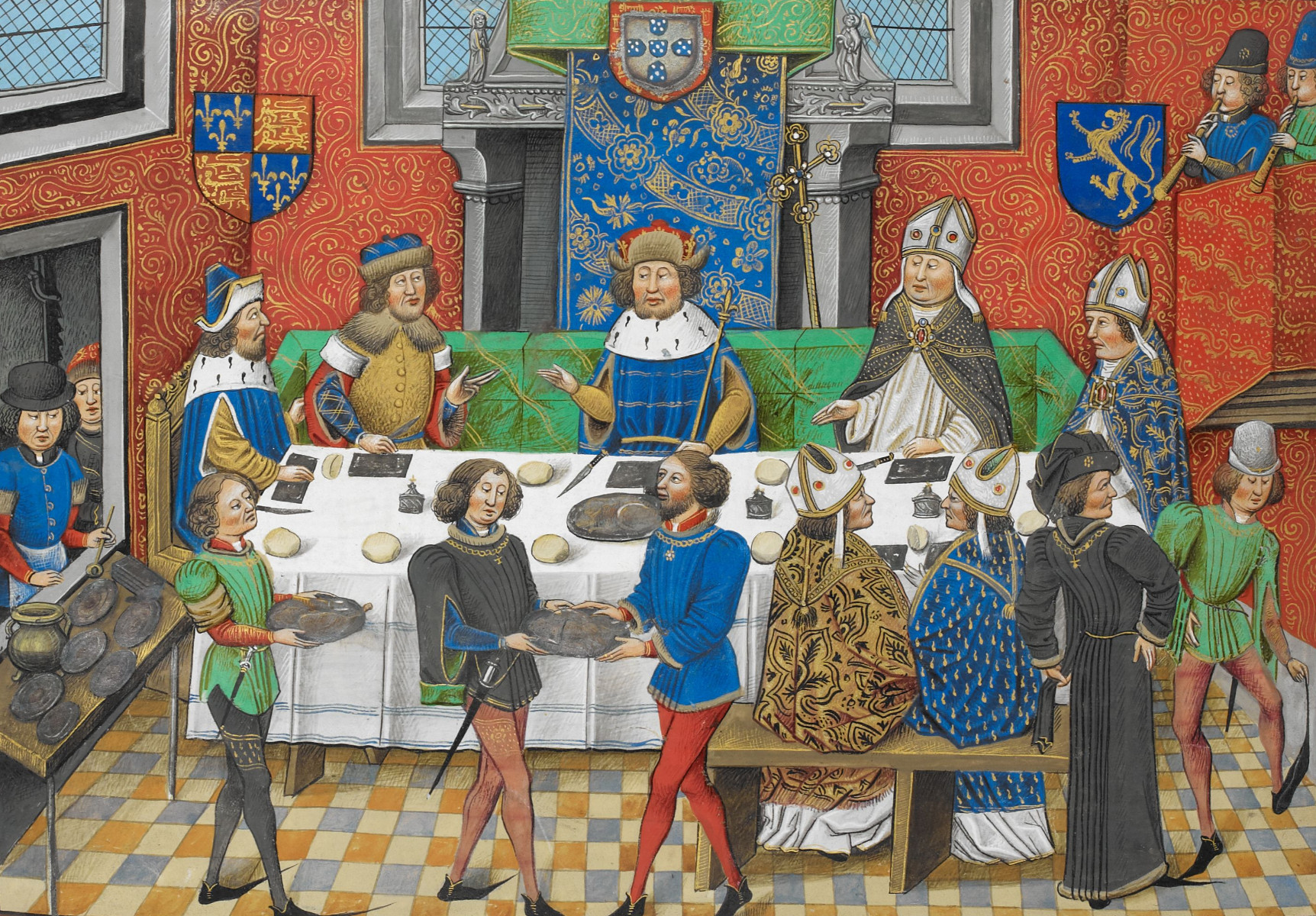Dinner With The King  File John of Gaunt Duke of Lancaster dining with the King