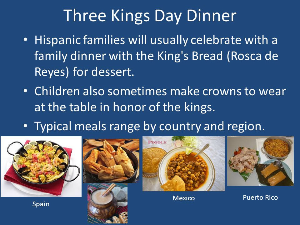 """Dinner With The King  Three Kings Day """"Da de Los Reyes Magos"""" ppt video"""