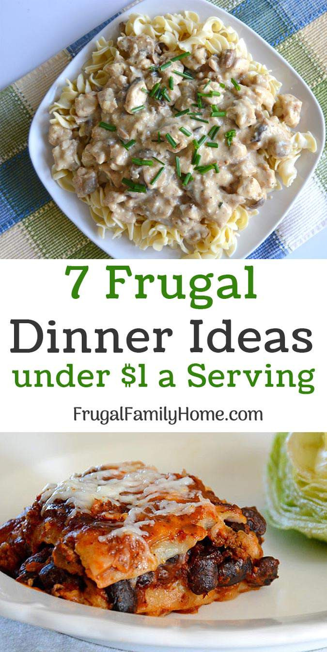 Dinners For One Ideas  Frugal Dinner Ideas for Under a $1 a Serving