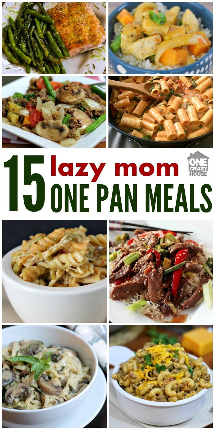 Dinners For One Ideas  A Lazy Mom s e Pan Dinners