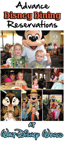 Disney Dinner Reservations  Disney World Training Dining with Advance Dining Reservations