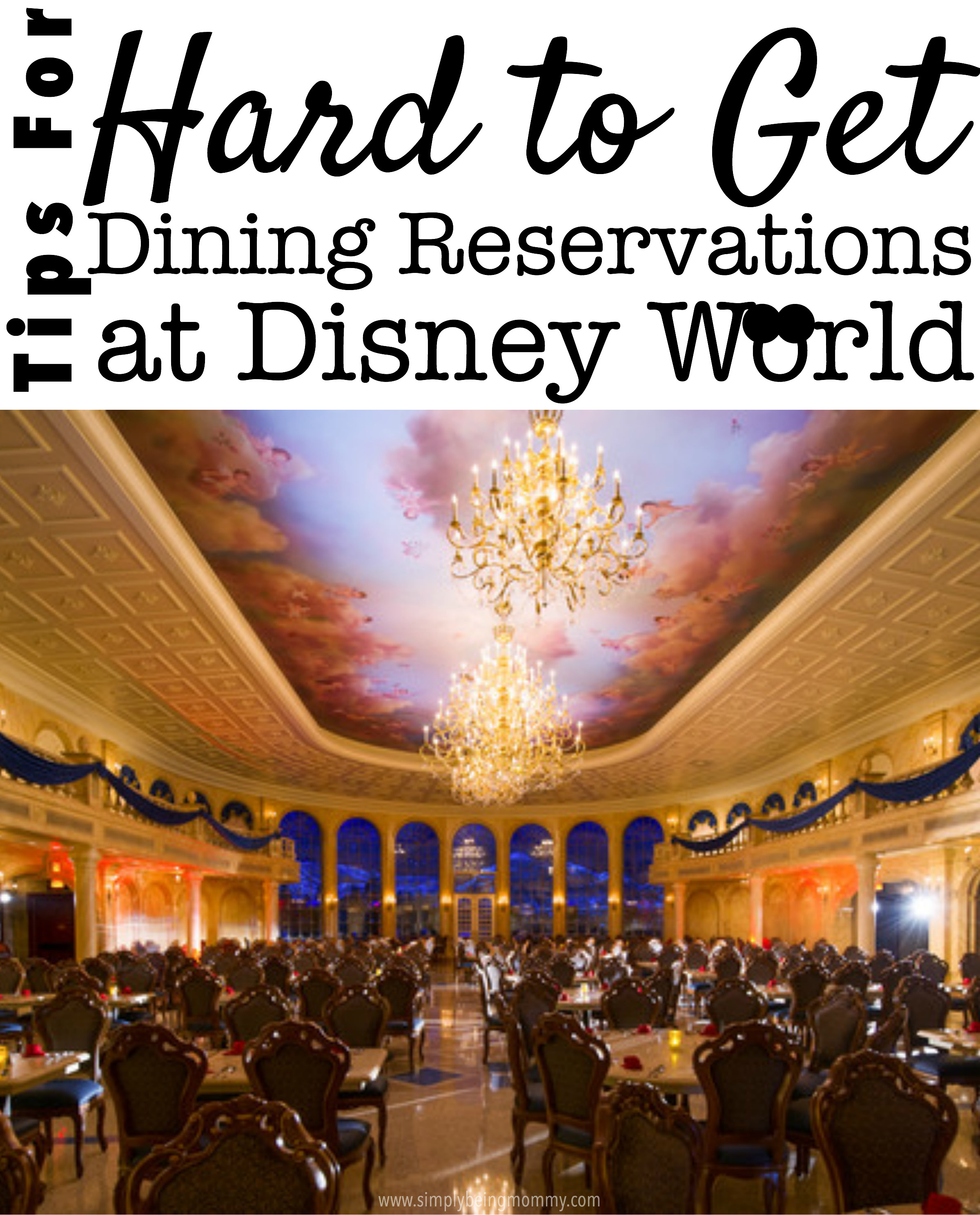 Disney Dinner Reservations  Tips for Hard to Get Dining Reservations at Disney World