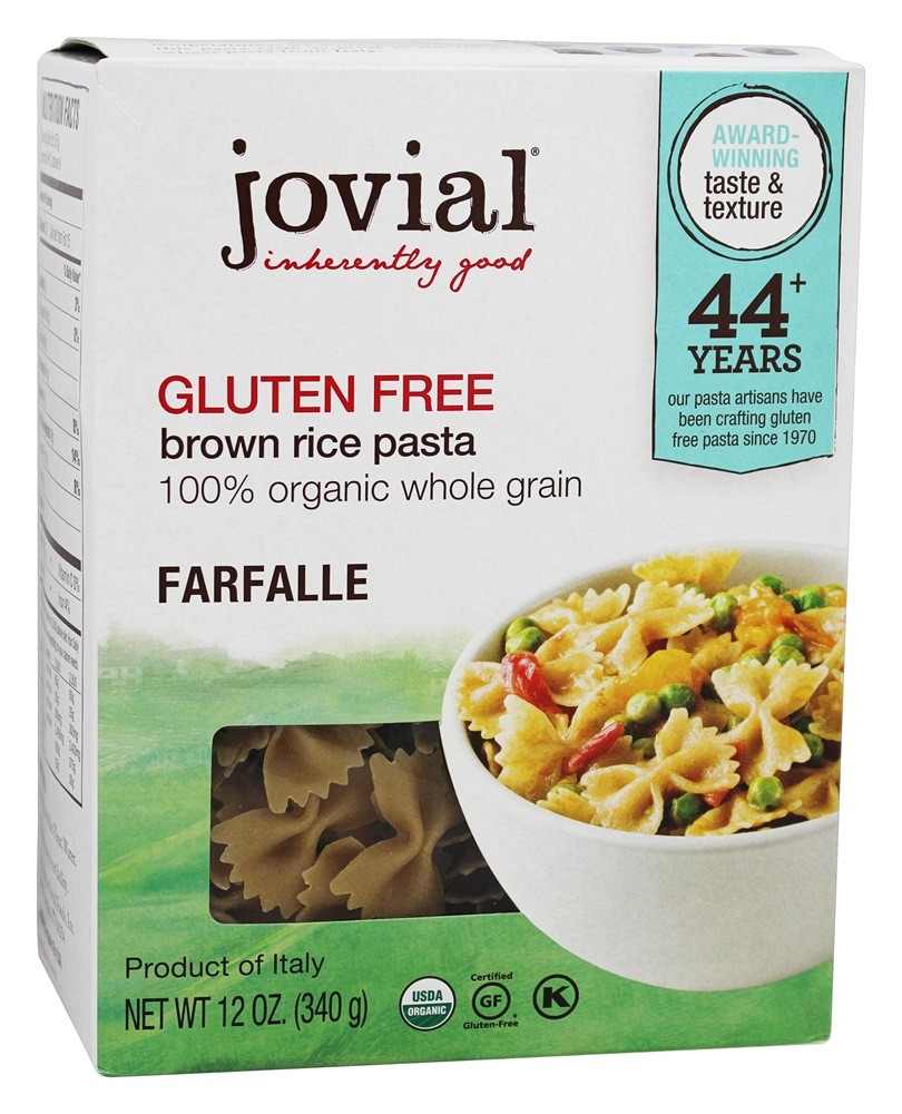 Does Brown Rice Have Gluten  Buy Jovial Foods Gluten Free Brown Rice Farfalle Pasta