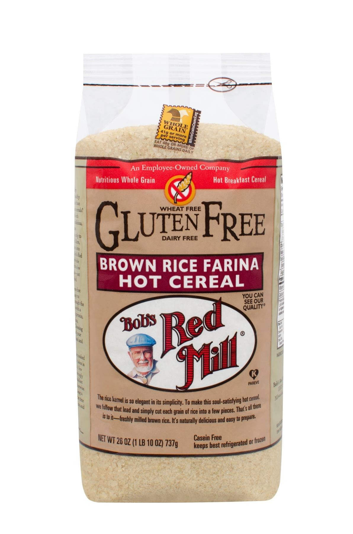 Does Brown Rice Have Gluten  Reviews for Creamy Brown Rice Farina Bob s Red Mill