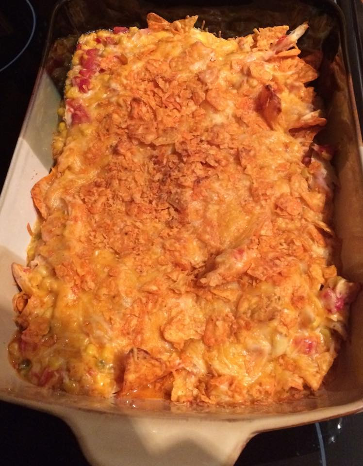 Doritos Chicken Casserole  Doritos Chicken & Cheese Casserole