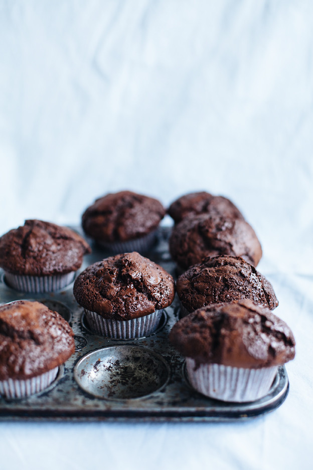 Double Chocolate Chip Muffins  Double chocolate muffins and chocolate chip cookies Call