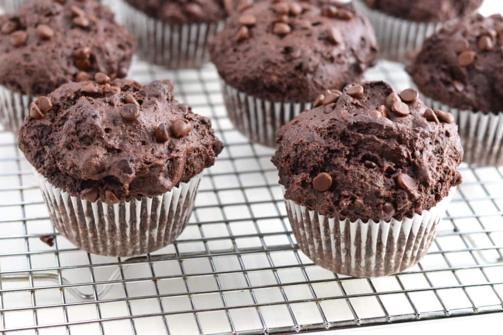 Double Chocolate Chip Muffins  10 Glorious Gluten Free Muffin Recipes for Summer