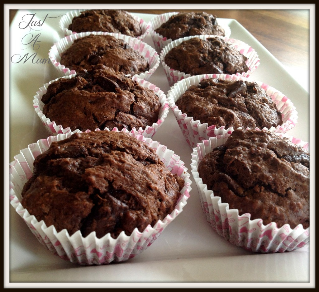 Double Chocolate Chip Muffins  Double Chocolate Chip Muffins – Just a Mum