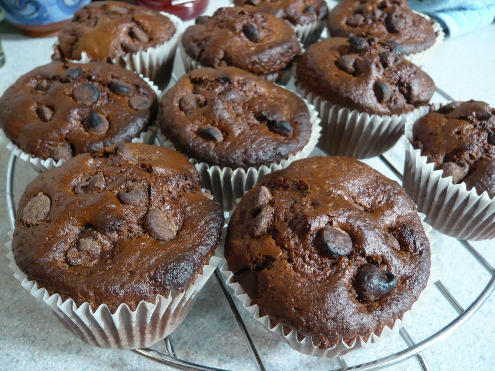 Double Chocolate Chip Muffins  Dispatches from the Deise Double Chocolate Chip Muffins