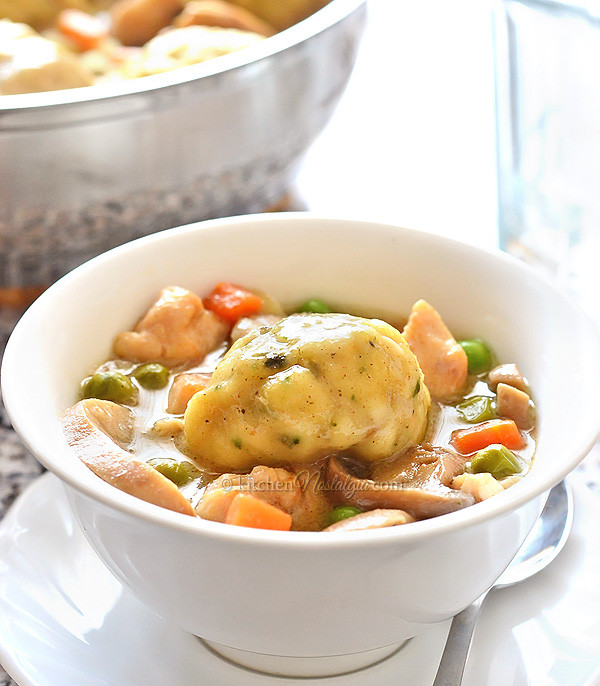 Dumplings With Bisquick  Chicken Fricassee with Bisquick Dumplings