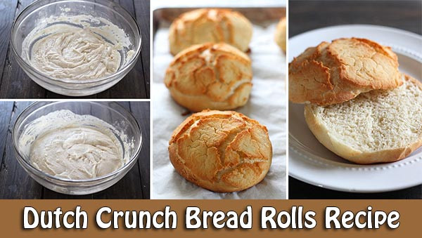 Dutch Crunch Bread Recipe  Dutch Crunch Bread Rolls Recipe