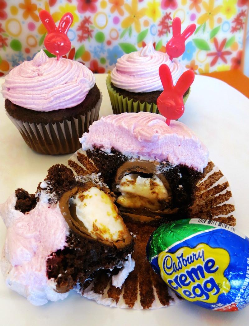 Easter Desserts For Kids  Cadbury Creme Egg Cupcakes Recipes Fun Easter Dessert For