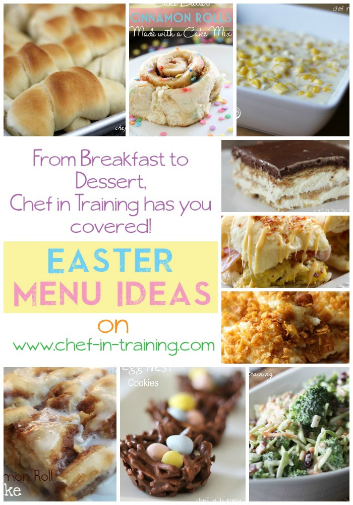 Easter Dinner Menu Ideas  Easter Menu Ideas Chef in Training