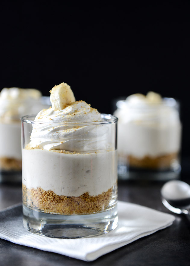 Easy Banana Desserts No Bake  No Bake Banana Cream Cheesecakes