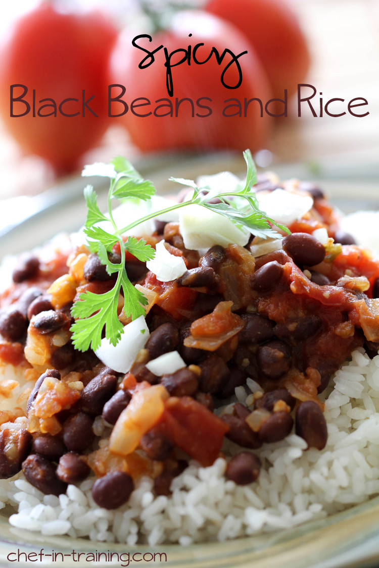 Easy Black Beans And Rice  Spicy Black Beans and Rice Chef in Training