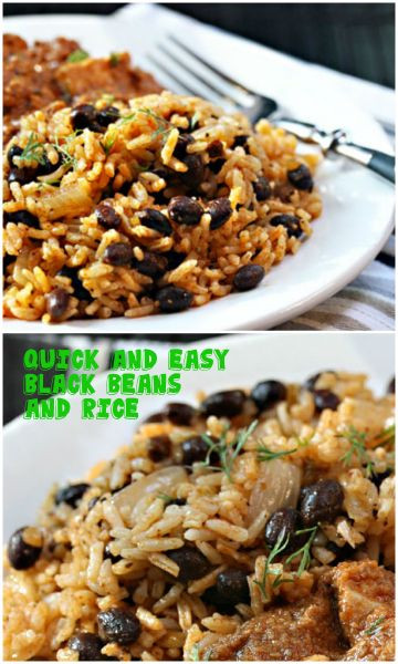 Easy Black Beans And Rice  Quick and easy black beans and rice made with sofrito
