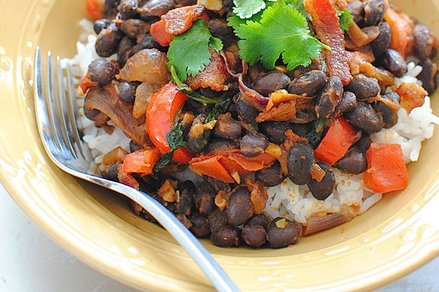 Easy Black Beans And Rice  Looks Delicious Simple Black Beans and Rice