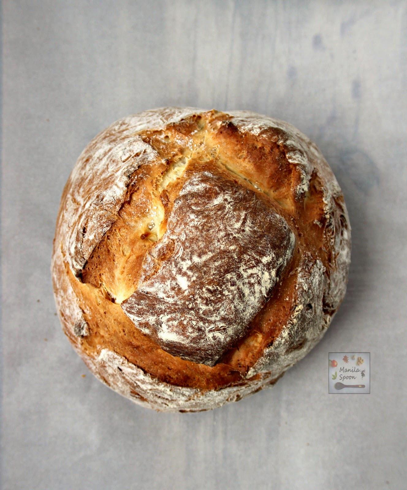 Easy Bread Recipe  Easy Homemade Rustic Bread