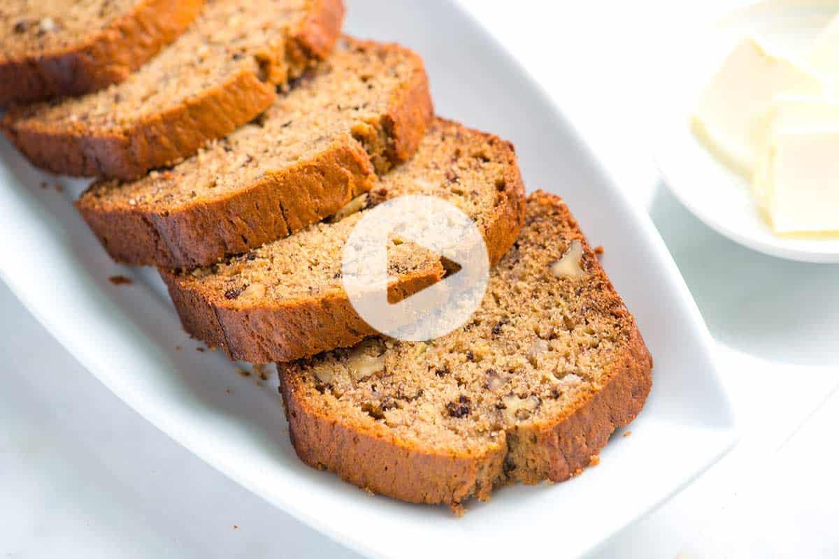 Easy Bread Recipe  Easy Homemade Banana Bread Recipe