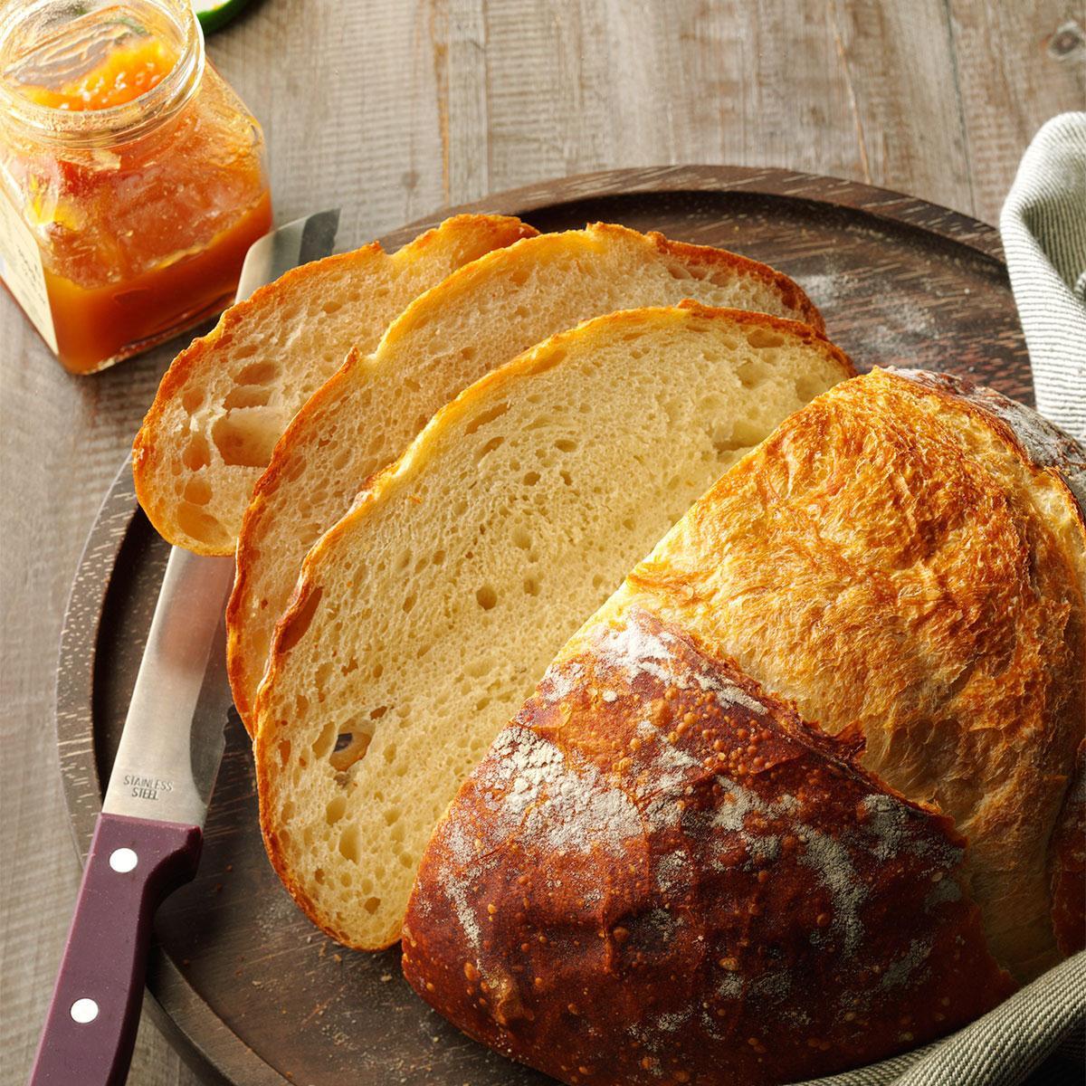 Easy Bread Recipe  Crusty Homemade Bread Recipe