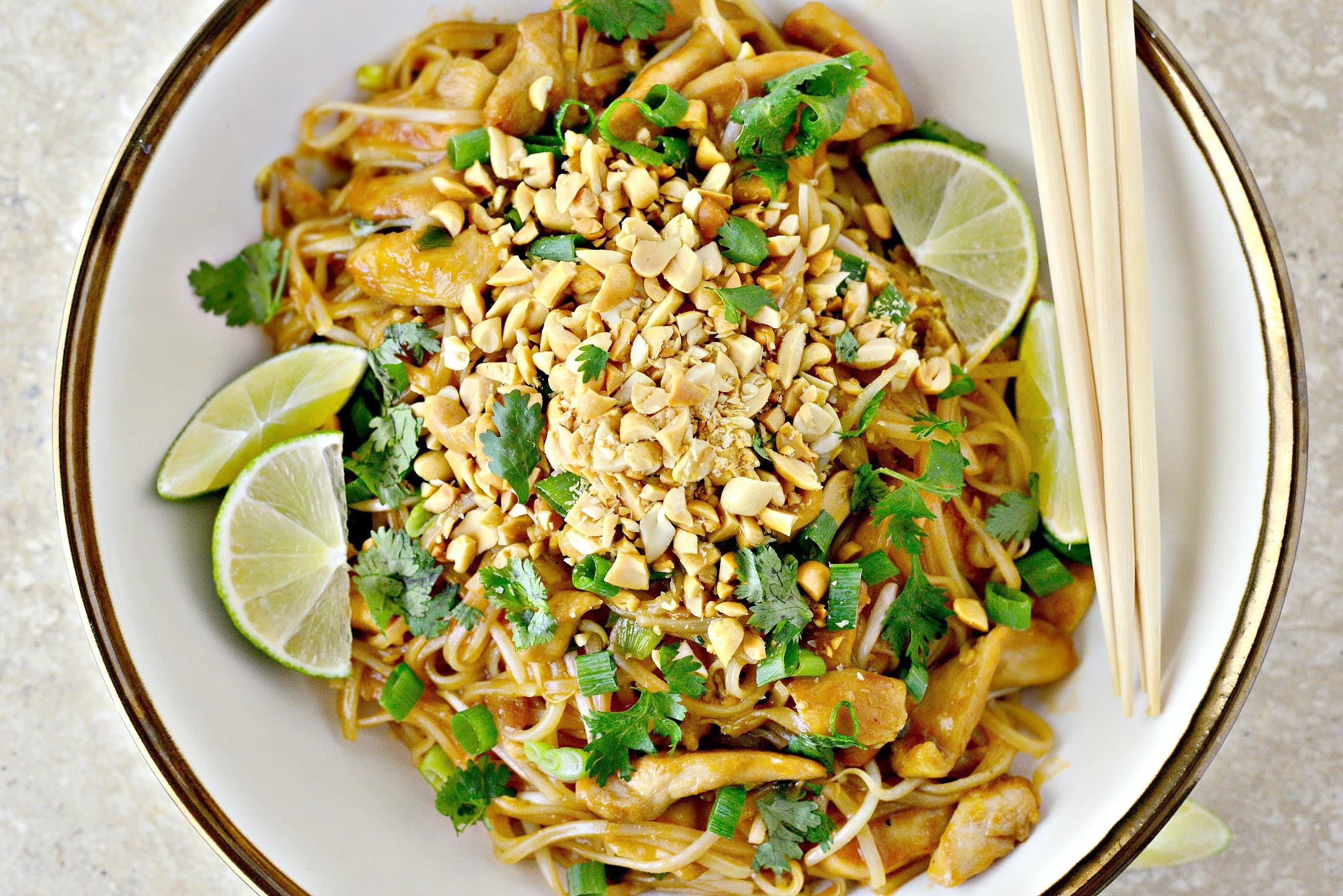 Easy Chicken Pad Thai Recipe  Simply Scratch Easy Chicken Pad Thai Simply Scratch