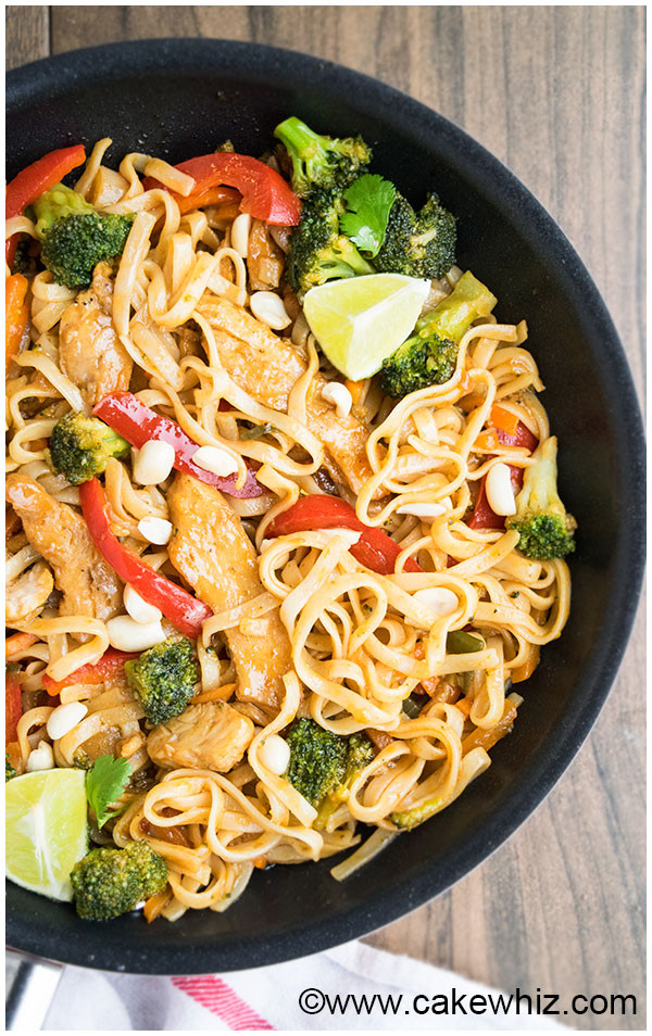 Easy Chicken Pad Thai Recipe  Chicken Pad Thai